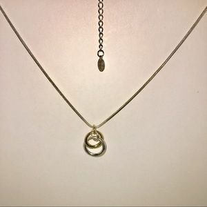 Liz Claiborne 3 Ring Pendant Necklace